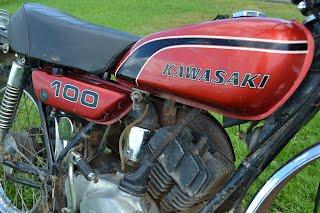 1974 Kawasaki G4-TR 100 - home